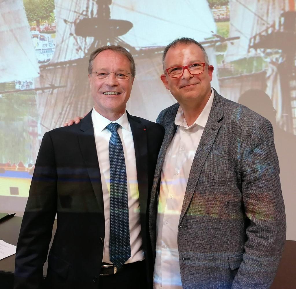 François Asselin et Christophe Thiebaud (le président national et le président départemental)